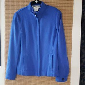 Blue Carlisle Angora wool jacket soft! 10